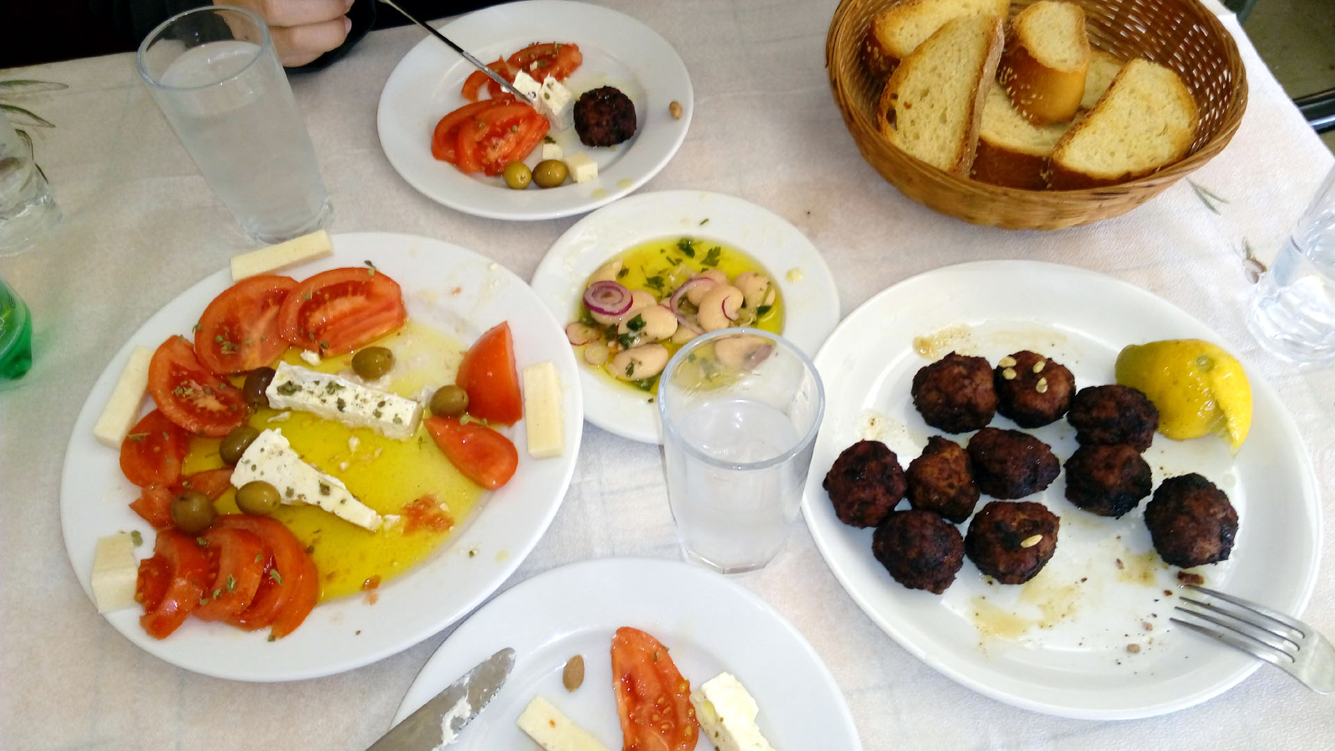 "Traditional greek lunch (""meze"")"