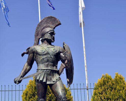 Sparta - Mystras - Leonidas Statue