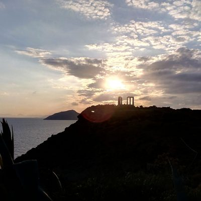 Sunset at Cape Sounion - Private tours Athens Greece