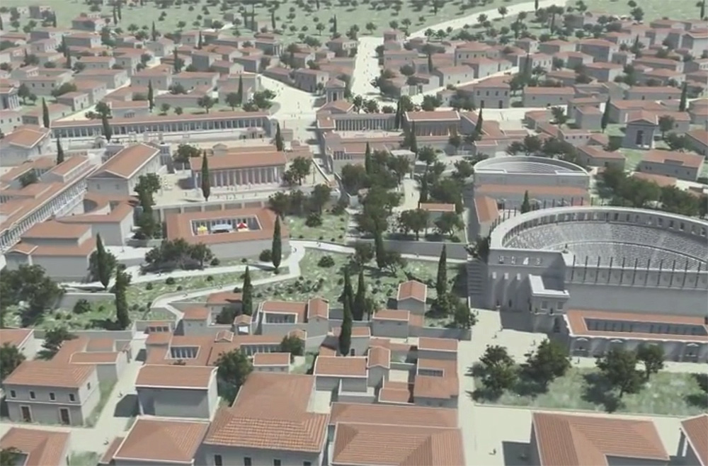 Ancient Corinth reconstruction