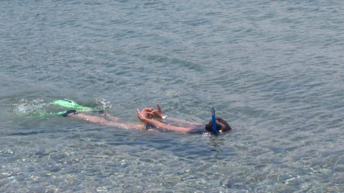 swimming snorkeling