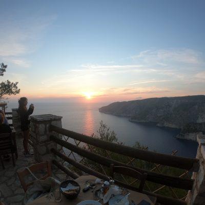 Zakynthos island sunset